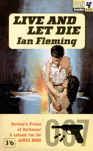 Live and Let Die by Ian Fleming, Pan Books X233, 11th imp., 1963.