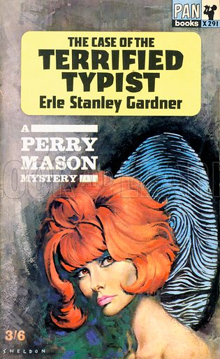 The Case of the Terrified Typist by Erle Stanley Gardner, Pan Books X291, 1964.