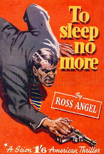 To Sleep No More by Ross Angel, Scion Ltd., 1951.