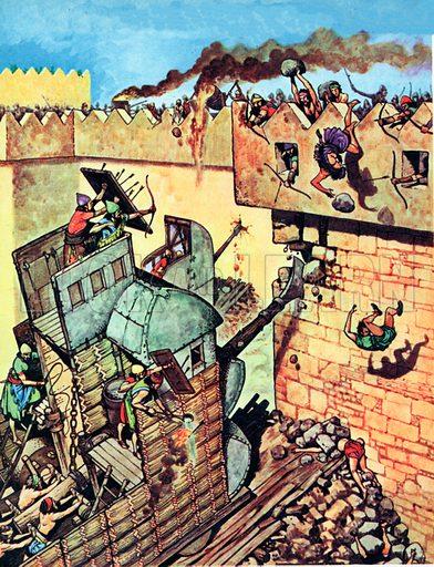 Siege machine of the Assyrians.
