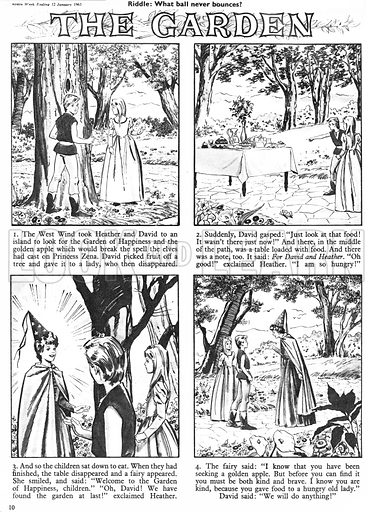 The Garden of Happiness. Comic strip from Robin (1962–63).