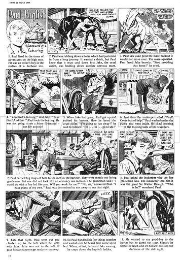 Paul English. Comic strip from Swift issue 1, 20 March 1954.
