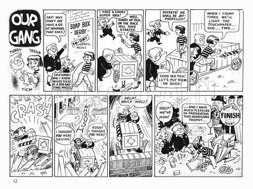 Our Gang. Comic strip from Swift, 20 March 1954.