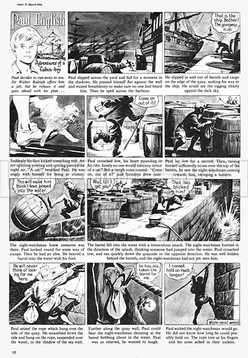 Paul English. Comic strip from Swift, 27 March 1954.