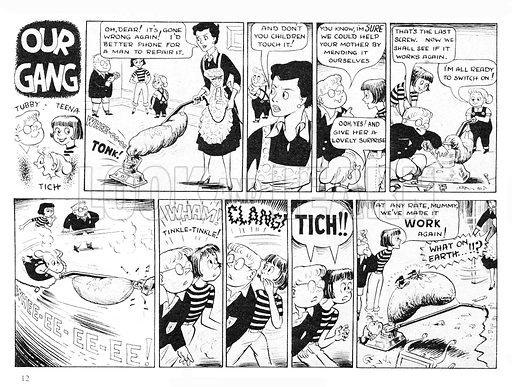 Our Gang. Comic strip from Swift, 27 March 1954.