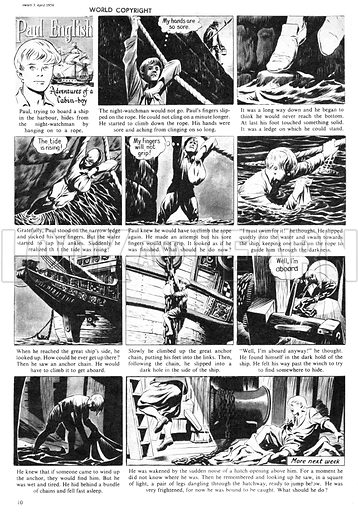Paul English. Comic strip from Swift, 3 April 1954.