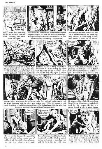 Paul English. Comic strip from Swift, 10 April 1954.