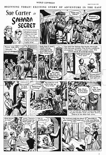 Sue Carter. Comic strip from Swift, 9 October 1954.