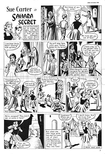Sue Carter. Comic strip from Swift, 16 October 1954.