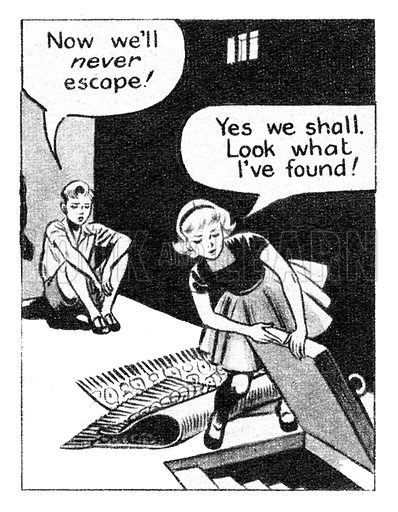 Sue Carter. Comic strip from Swift, 23 October 1954.