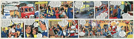 The Rolling Stones.  Comic strip.