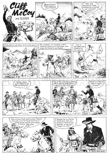 Cliff McCoy and Slicker. Comic strip from Swift (1955–56).