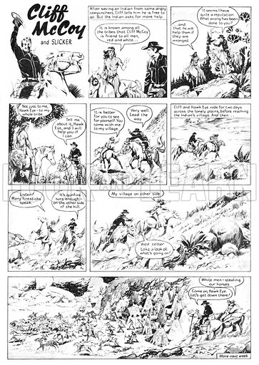 Cliff McCoy and Slicker. Comic strip from Swift (1955-56).