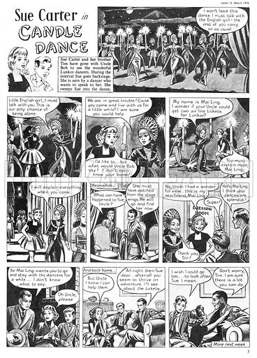 Sue Carter. Comic strip from Swift, 31 March 1956.