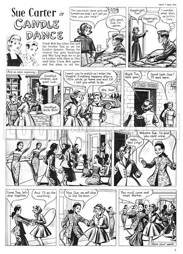 Sue Carter. Comic strip from Swift, 7 April 1956.
