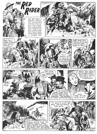 The Red Rider. Comic strip from Swift (1956-57).
