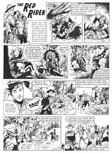 The Red Rider. Comic strip from Swift (1956–57).