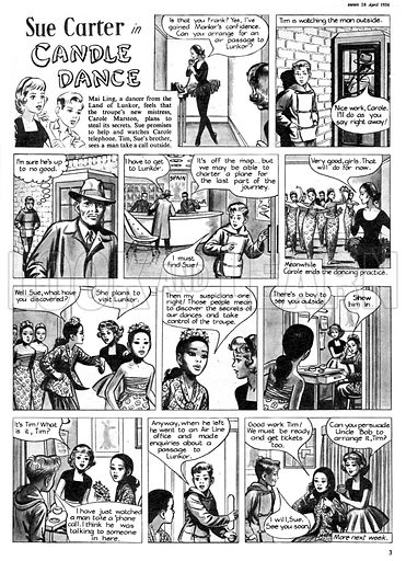 Sue Carter. Comic strip from Swift, 28 April 1956.
