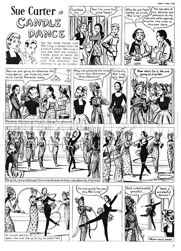 Sue Carter. Comic strip from Swift, 5 May 1956.