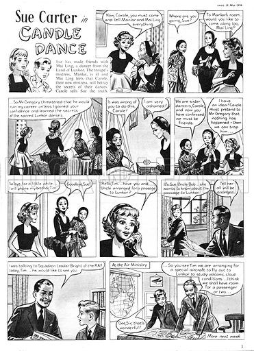 Sue Carter. Comic strip from Swift, 19 May 1956.