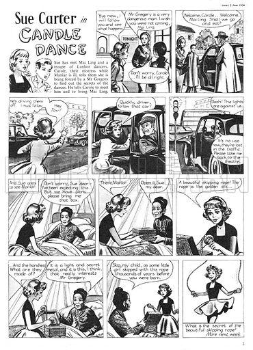Sue Carter. Comic strip from Swift, 2 June 1956.