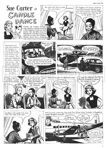 Sue Carter. Comic strip from Swift, 9 June 1956.