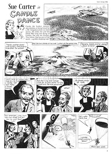Sue Carter. Comic strip from Swift, 16 June 1956.