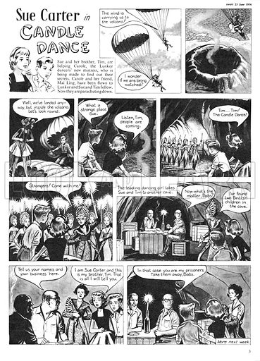 Sue Carter. Comic strip from Swift, 23 June 1956.