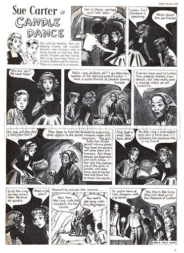 Sue Carter. Comic strip from Swift, 30 June 1956.