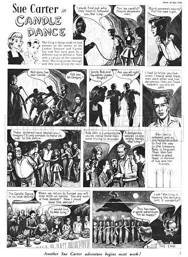 Sue Carter. Comic strip from Swift, 28 July 1956.