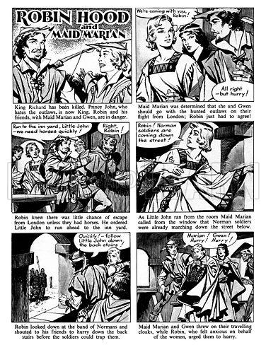 Robin Hood and Maid Marian.