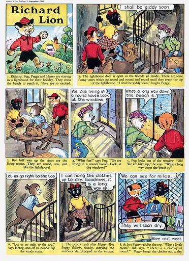 Richard Lion. Comic strip from Swift, 9 September 1961.