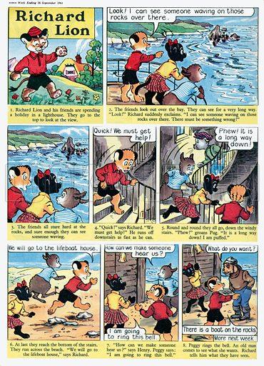 Richard Lion. Comic strip from Swift, 16 September 1961.
