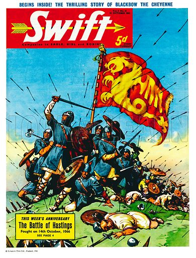 The Battle of Hastings. Cover from Swift (14 October 1961).
