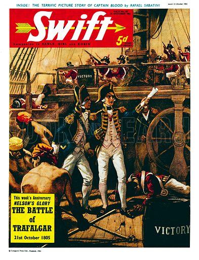 The Battle of Trafalgar. Cover from Swift (21 October 1961).