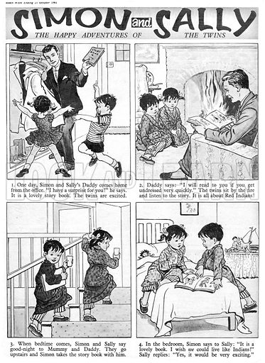 Simon and Sally. Comic strip from Swift, 21 October 1961.