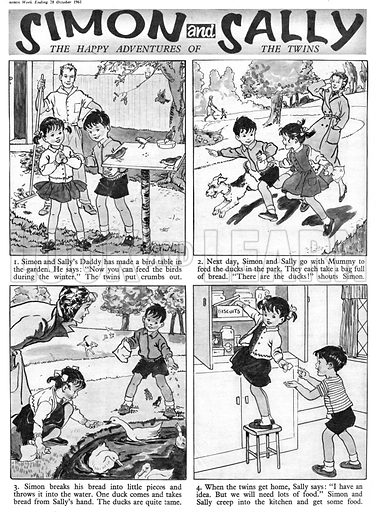 Simon and Sally. Comic strip from Swift, 28 October 1961.