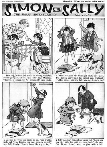 Simon and Sally. Comic strip from Swift, 4 November 1961.