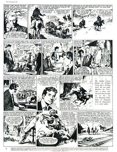 Blackbow the Cheyenne. Comic strip from Swift (19 January 1963).