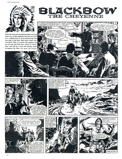 Blackbow the Cheyenne. Comic strip from Swift (2 February 1963).