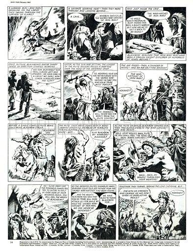 Blackbow the Cheyenne. Comic strip from Swift (16 February 1963).