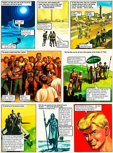 The Trigan Empire. Original artwork for Ranger Book for Boys 1968. Reprinted in Look and Learn issue no 681 (1 Feb 1975). For sale for £2,000 (including VAT and delivery within the UK).This image is not available for licensing.