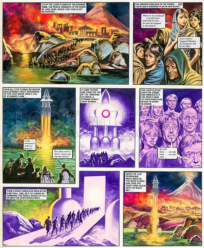 The Trigan Empire. Original artwork for Look and Learn issue no 384 (24 May 1969). Reprinted in issue no 925 (13 Oct 1979). For sale for £2,500 (including VAT and delivery within the UK).This image is not available for licensing.