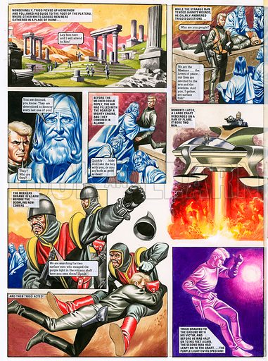 The Trigan Empire. Original artwork for Look and Learn issue no 387 (14 June 1969). Reprinted in issue no 928 (3 Nov 1979). For sale for £3,000 (including VAT and delivery within the UK).This image is not available for licensing.