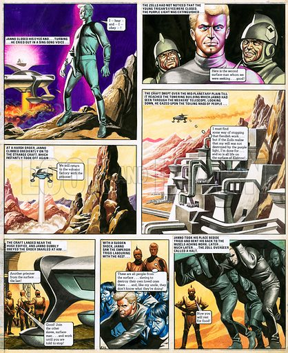 The Trigan Empire. Original artwork for Look and Learn issue no 389 (28 June 1969). Reprinted in issue no 930 (17 Nov 1979). For sale for £3,000 (including VAT and delivery within the UK).This image is not available for licensing.