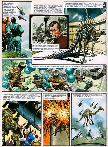 The Trigan Empire. Original artwork for Look and Learn issue no 724 (29 Nov 1975). For sale for £2,000 (including VAT and delivery within the UK). This image is not available for licensing.