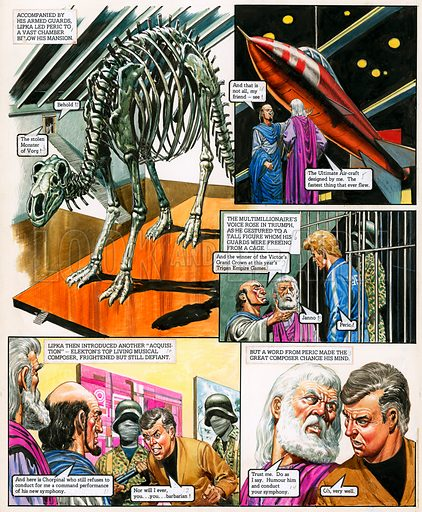 The Trigan Empire. Original artwork for Look and Learn issue no 730 (10 Jan 1976). For sale for £2,000 (including VAT and delivery within the UK). This image is not available for licensing.