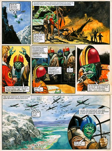 The Trigan Empire. Original artwork for Look and Learn issue no 744 (17 April 1976). For sale for £2,000 (including VAT and delivery within the UK). This image is not available for licensing.