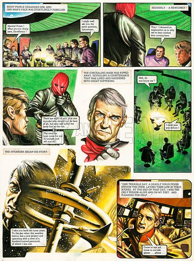 The Trigan Empire. Original artwork for Look and Learn issue no 758 (24 July 1976). For sale for £200 (including VAT and delivery within the UK.)  This image is not available for licensing.