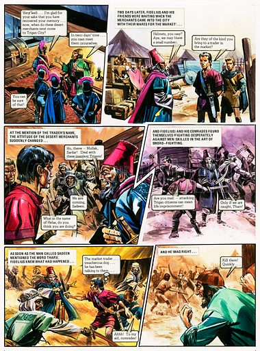 The Trigan Empire. Original artwork for Look and Learn issue no 1014 (15 Aug 1981). For sale for £200 (including VAT and delivery within the UK.) This image is not available for licensing.